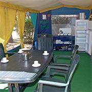 Bungalowtent huren Ludo Camping Ardeche in Frankrijk